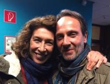 Christoph Kail und Adele Neuhauser am Set von Tatort