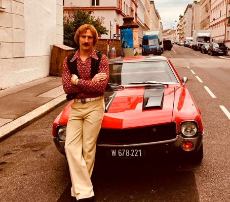 Schauspieler Michael Edlinger am Set von Der Fall der Gerti B