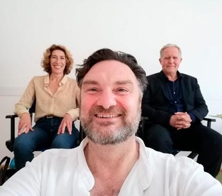 Schauspieler Martin Leutgeb am Set von Tatort