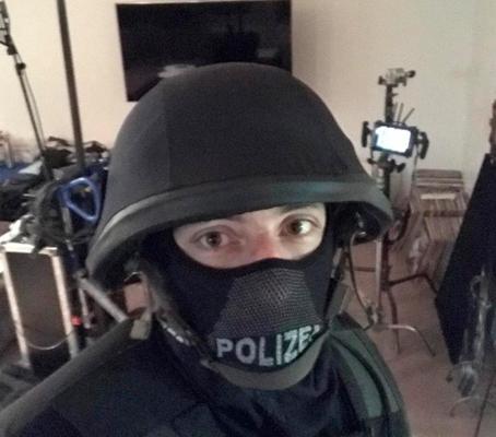 Schauspieler Ralf Rossmanith am Set von Tatort
